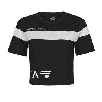 Υφασμάτινα Γυναίκα T-shirt με κοντά μανίκια Emporio Armani EA7 3KTT05-TJ9ZZ-1200 Black / Άσπρο