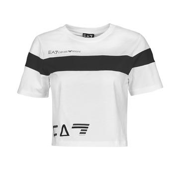 Υφασμάτινα Γυναίκα T-shirt με κοντά μανίκια Emporio Armani EA7 3KTT05-TJ9ZZ-1100 Άσπρο / Black