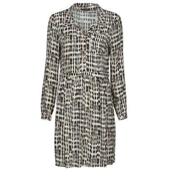 Υφασμάτινα Γυναίκα Κοντά Φορέματα One Step RANDA Beige / Black