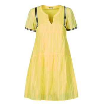 Υφασμάτινα Γυναίκα Κοντά Φορέματα One Step ROYA Yellow