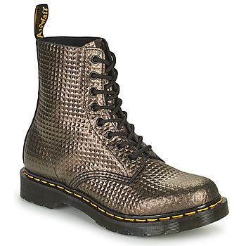 Παπούτσια Γυναίκα Μπότες Dr Martens 1460 PASCAL Taupe / Gold