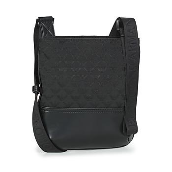 Τσάντες Άνδρας Pouch / Clutch Emporio Armani PIATTINA OMNIA JACQUARD - MESSENGER BAG Black
