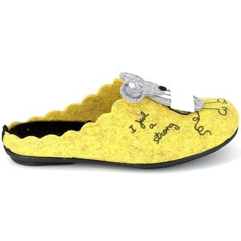 Παπούτσια Παντόφλες La Maison De L'espadrille Mule Souris Jaune Yellow
