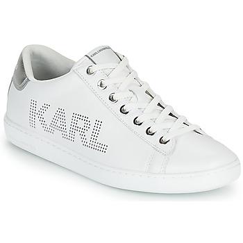 Παπούτσια Γυναίκα Χαμηλά Sneakers Karl Lagerfeld KUPSOLE II KARL PUNKT LOGO LO Άσπρο