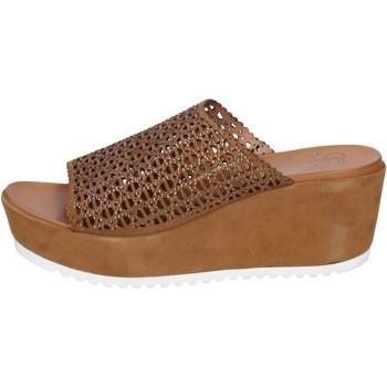 Παπούτσια Γυναίκα Σανδάλια / Πέδιλα Femme Plus Σανδάλια BK620 καφέ