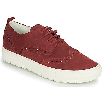 Παπούτσια Γυναίκα Χαμηλά Sneakers Geox D BREEDA Bordeaux