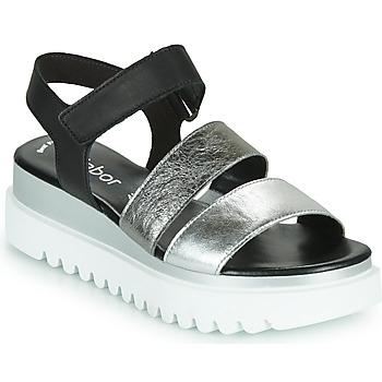 Παπούτσια Γυναίκα Σανδάλια / Πέδιλα Gabor 6461061 Black / Άσπρο / Silver