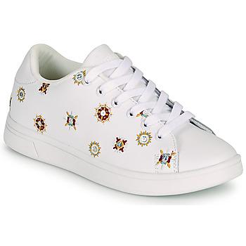 Παπούτσια Γυναίκα Χαμηλά Sneakers Desigual COSMIC JULIETTE Άσπρο