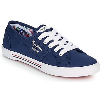 Παπούτσια Γυναίκα Χαμηλά Sneakers Pepe jeans ABERLADY ECOBASS Marine