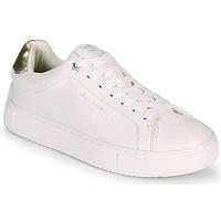 Παπούτσια Γυναίκα Χαμηλά Sneakers Pepe jeans ADAMS MOLLY Άσπρο / Gold