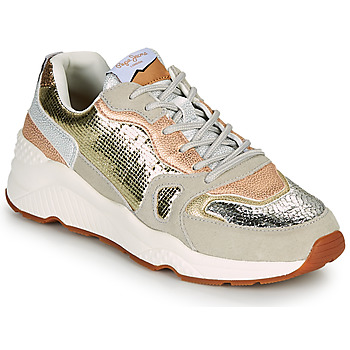 Παπούτσια Γυναίκα Χαμηλά Sneakers Pepe jeans HARLOW GOLDEN Beige / Gold