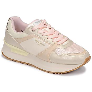 Παπούτσια Γυναίκα Χαμηλά Sneakers Pepe jeans RUSPER EVE Άσπρο / Leopard