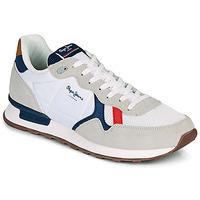 Παπούτσια Άνδρας Χαμηλά Sneakers Pepe jeans BRITT MAN BASIC Άσπρο / Beige