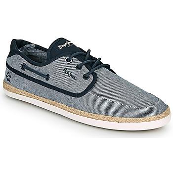 Παπούτσια Άνδρας Εσπαντρίγια Pepe jeans MAUI BOAT CHAMBRAY Marine / Grey