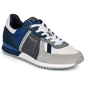 Παπούτσια Άνδρας Χαμηλά Sneakers Pepe jeans TINKER ZERO 21 Grey / Μπλέ