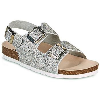 Παπούτσια Κορίτσι Σανδάλια / Πέδιλα Pepe jeans BIO BASIC GLITTER Argenté / Glitter