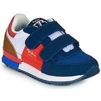 Παπούτσια Αγόρι Χαμηλά Sneakers Pepe jeans SYDNEY TREND BOY KIDS SS21 Μπλέ / Red