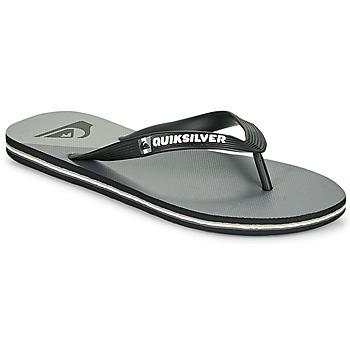 Παπούτσια Άνδρας Σαγιονάρες Quiksilver MOLOKAI NEW WAVE Black / Grey
