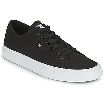 Παπούτσια Άνδρας Skate Παπούτσια DC Shoes MANUAL Black / Άσπρο