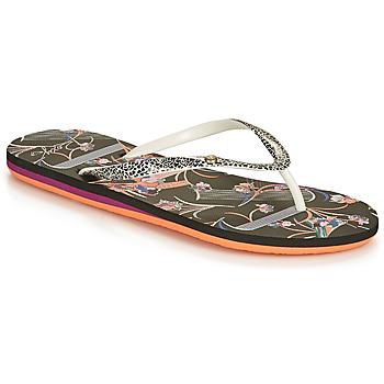 Παπούτσια Γυναίκα Σαγιονάρες Roxy PORTOFINO III Black / Print