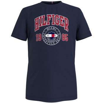 Υφασμάτινα Αγόρι T-shirt με κοντά μανίκια Tommy Hilfiger CRISA Marine