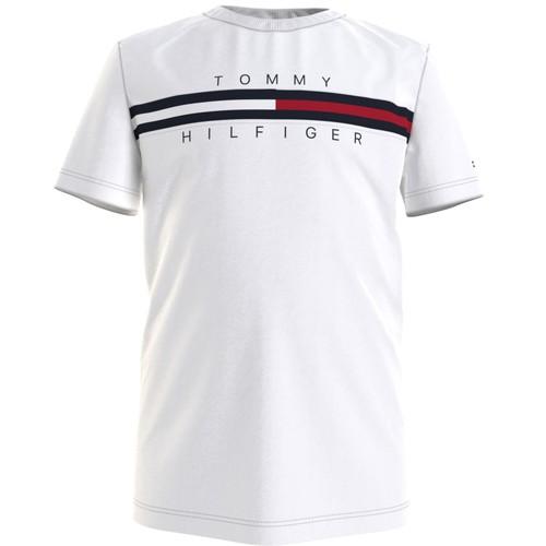 Υφασμάτινα Αγόρι T-shirt με κοντά μανίκια Tommy Hilfiger KB0KB06532-YBR Άσπρο