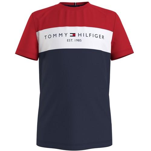 Υφασμάτινα Αγόρι T-shirt με κοντά μανίκια Tommy Hilfiger KB0KB06534-C87 Multicolour