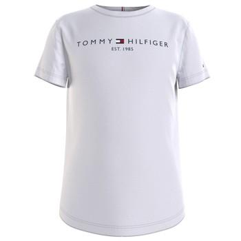 Υφασμάτινα Κορίτσι T-shirt με κοντά μανίκια Tommy Hilfiger KG0KG05242-YBR Άσπρο