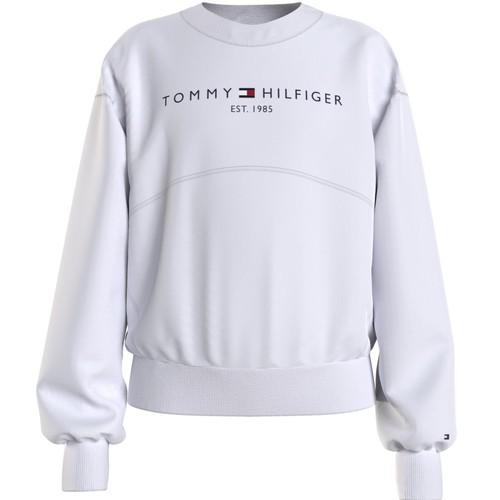 Υφασμάτινα Κορίτσι Φούτερ Tommy Hilfiger THUBOR Άσπρο