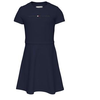 Υφασμάτινα Κορίτσι Κοντά Φορέματα Tommy Hilfiger KG0KG05789-C87 Marine