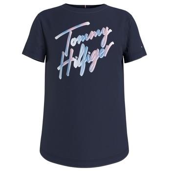 Υφασμάτινα Κορίτσι T-shirt με κοντά μανίκια Tommy Hilfiger KG0KG05870-C87 Marine