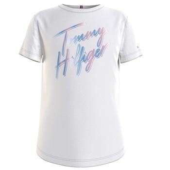 Υφασμάτινα Κορίτσι T-shirt με κοντά μανίκια Tommy Hilfiger KG0KG05870-YBR Άσπρο
