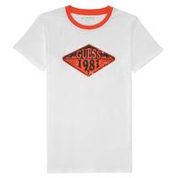 Υφασμάτινα Αγόρι T-shirt με κοντά μανίκια Guess L1GI09-K8HM0-TWHT Άσπρο