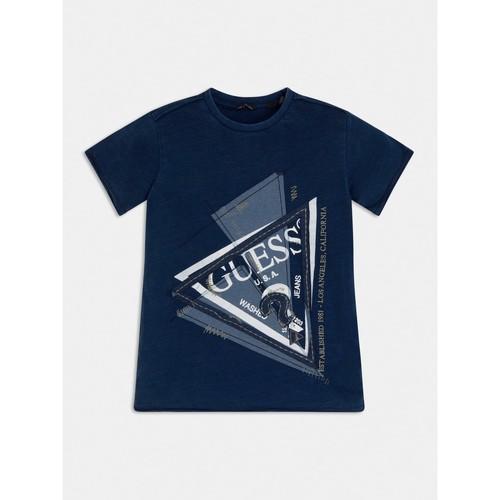 Υφασμάτινα Αγόρι T-shirt με κοντά μανίκια Guess L1RI15-K8GA0-F233 Μπλέ