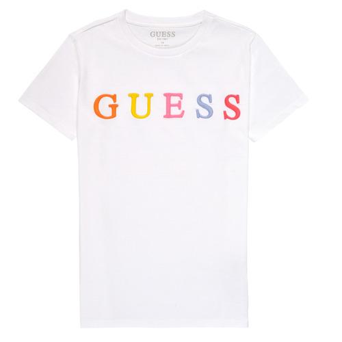 Υφασμάτινα Κορίτσι T-shirt με κοντά μανίκια Guess H1RJ04-K8HM0-TWHT Άσπρο
