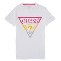 Υφασμάτινα Αγόρι T-shirt με κοντά μανίκια Guess H1RJ05-K8HM0-P66P Άσπρο