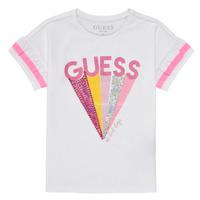 Υφασμάτινα Κορίτσι T-shirt με κοντά μανίκια Guess K1RI04-K6YW1-TWHT Άσπρο
