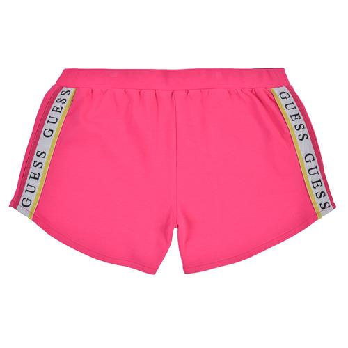 Υφασμάτινα Κορίτσι Σόρτς / Βερμούδες Guess J1GD12-KAE20-JLPK Ροζ