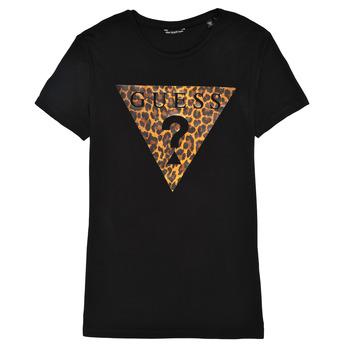 Υφασμάτινα Κορίτσι T-shirt με κοντά μανίκια Guess J1RI27-K9MV0-P954 Black