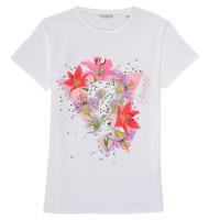 Υφασμάτινα Κορίτσι T-shirt με κοντά μανίκια Guess J1RI24-K6YW1-TWHT Άσπρο