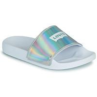Παπούτσια Γυναίκα σαγιονάρες Levi's JUNE BATWING S Silver