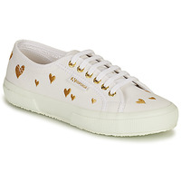 Παπούτσια Γυναίκα Χαμηλά Sneakers Superga 2750 HEARTS EMBRODERY Άσπρο / Gold