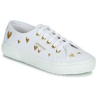 Παπούτσια Παιδί Χαμηλά Sneakers Superga 2750 COTJEMBROIDERY LAMEHEARTS Άσπρο / Gold