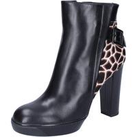 Παπούτσια Γυναίκα Μποτίνια Hogan Μπότες αστραγάλου BK643 Μαύρος