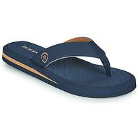Παπούτσια Άνδρας Σαγιονάρες Isotoner TAMARA Marine / Cognac