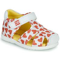 Παπούτσια Κορίτσι Σανδάλια / Πέδιλα Agatha Ruiz de la Prada HAPPY Άσπρο / Red