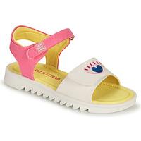 Παπούτσια Κορίτσι Σανδάλια / Πέδιλα Agatha Ruiz de la Prada SMILEY Άσπρο / Ροζ