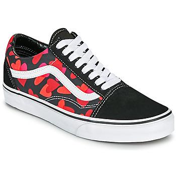 Παπούτσια Γυναίκα Χαμηλά Sneakers Vans OLD SKOOL Black / Red