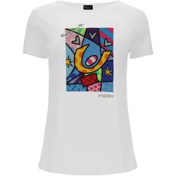 Υφασμάτινα Γυναίκα T-shirts & Μπλούζες Freddy F0WBRT1 λευκό