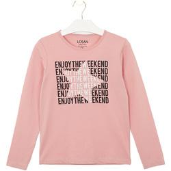 Υφασμάτινα Παιδί T-shirts & Μπλούζες Losan 024-1631AL Ροζ